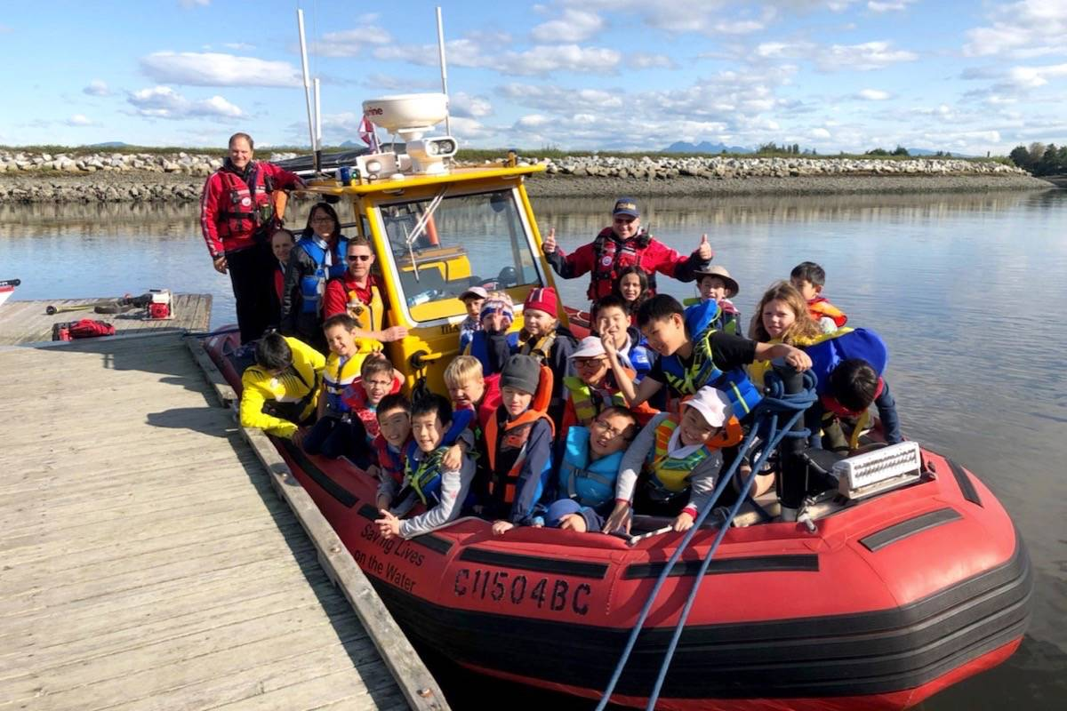 Local Sea Scouts on board one of the RCM-SAR5 rescue vessels. (Contributed photo)