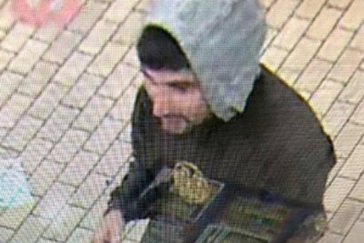 This man allegedly stole food from the 7-Eleven. (Langley RCMP/Special to the Langley Advance Times)