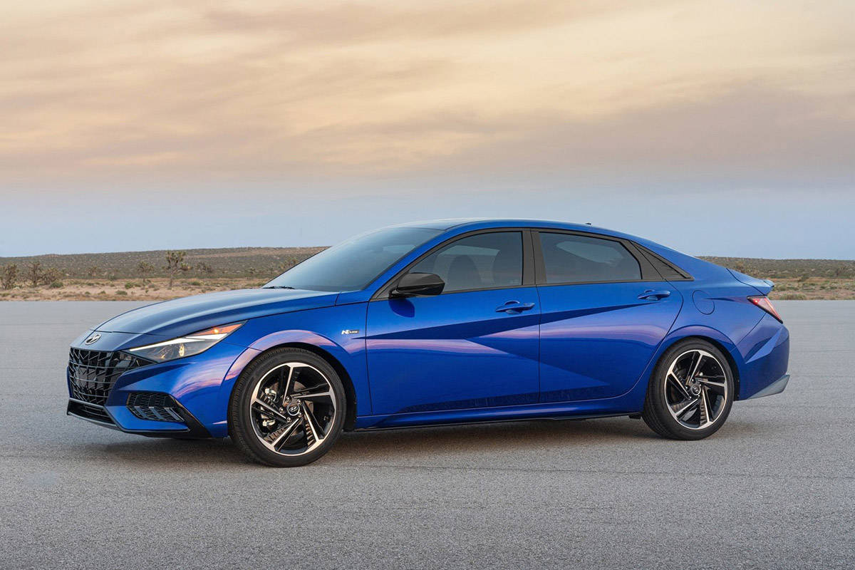 The new design is, quite literally, edgy. The Elantra is also larger than before and has a bit more distance between the front and rear wheels. PHOTO: HYUNDAI