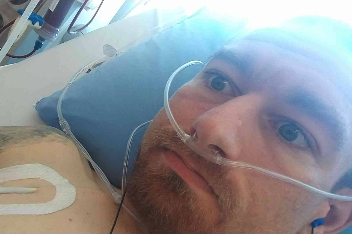 Joe Fast of Abbotsford is on dialysis four days a week and has issued a public plea for a kidney donor. (Submitted photo)