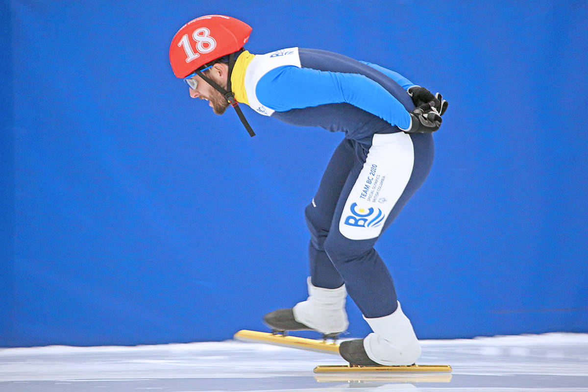 Langley's Matthew Williams, seen here competing at the 2020 Special Olympics Canada Winter Games in Thunder Bay in February of 2020, has been named one of two athletes of the year by Special Olympics Canada. (Courtesy Special Olympics Canada)