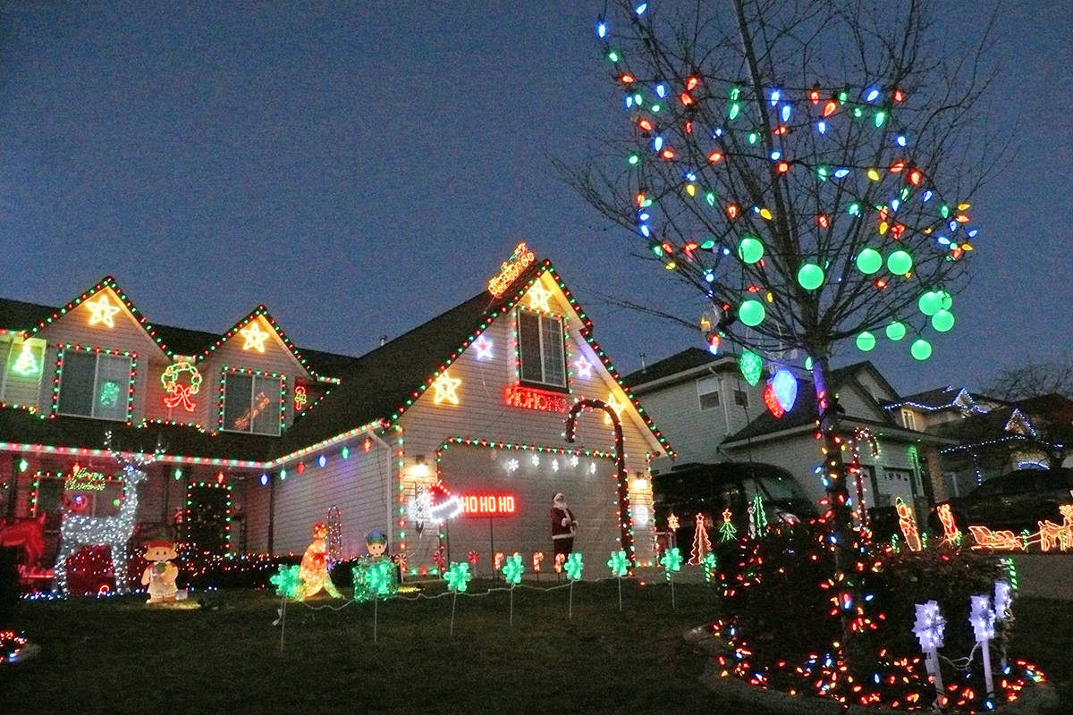 For 17 years, the home at 26887 24A Avenue in Aldergrove has been the scene of ever-more elaborate Christmas lights displays. (Dan Ferguson/Langley Advance Times)