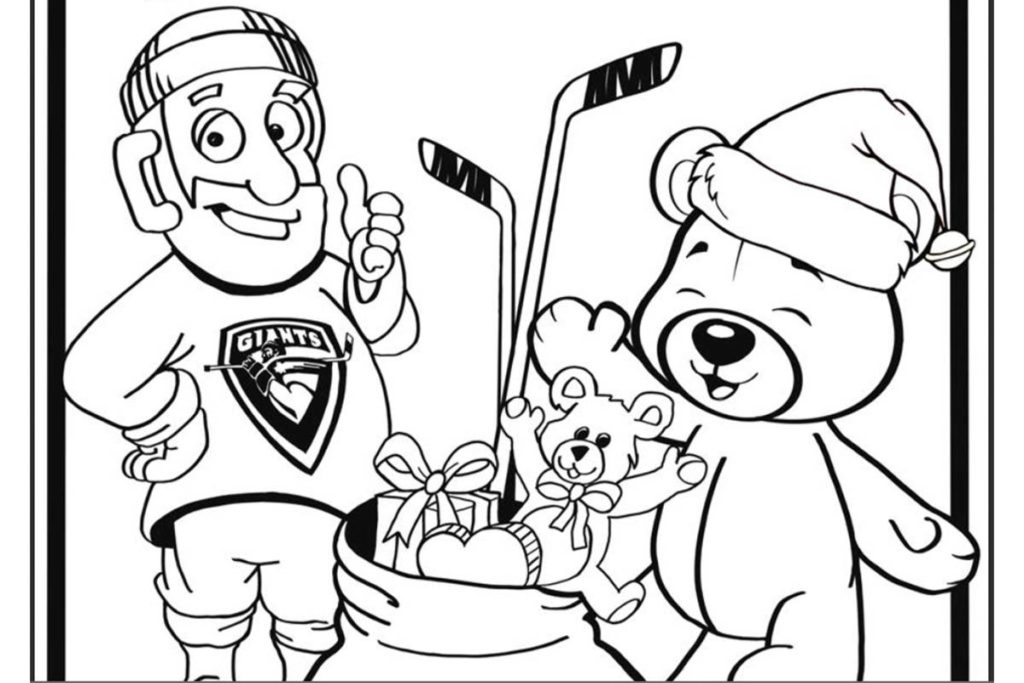 This is a portion of the colouring page released by the Vancouver Giants. To get the full version, go to their website at vancouvergiants.com. (Courtesy Vancouver Giants)