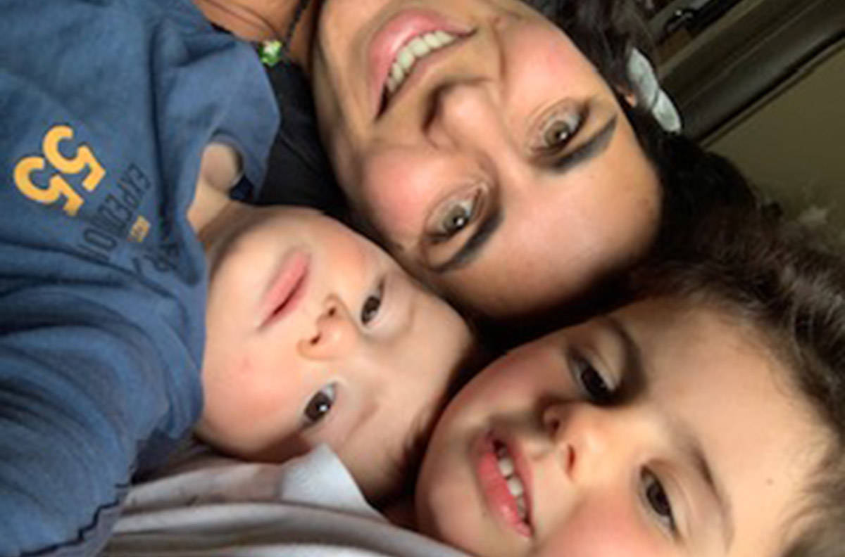 Rose Mirza with her two children. (Submitted to Black Press Media)