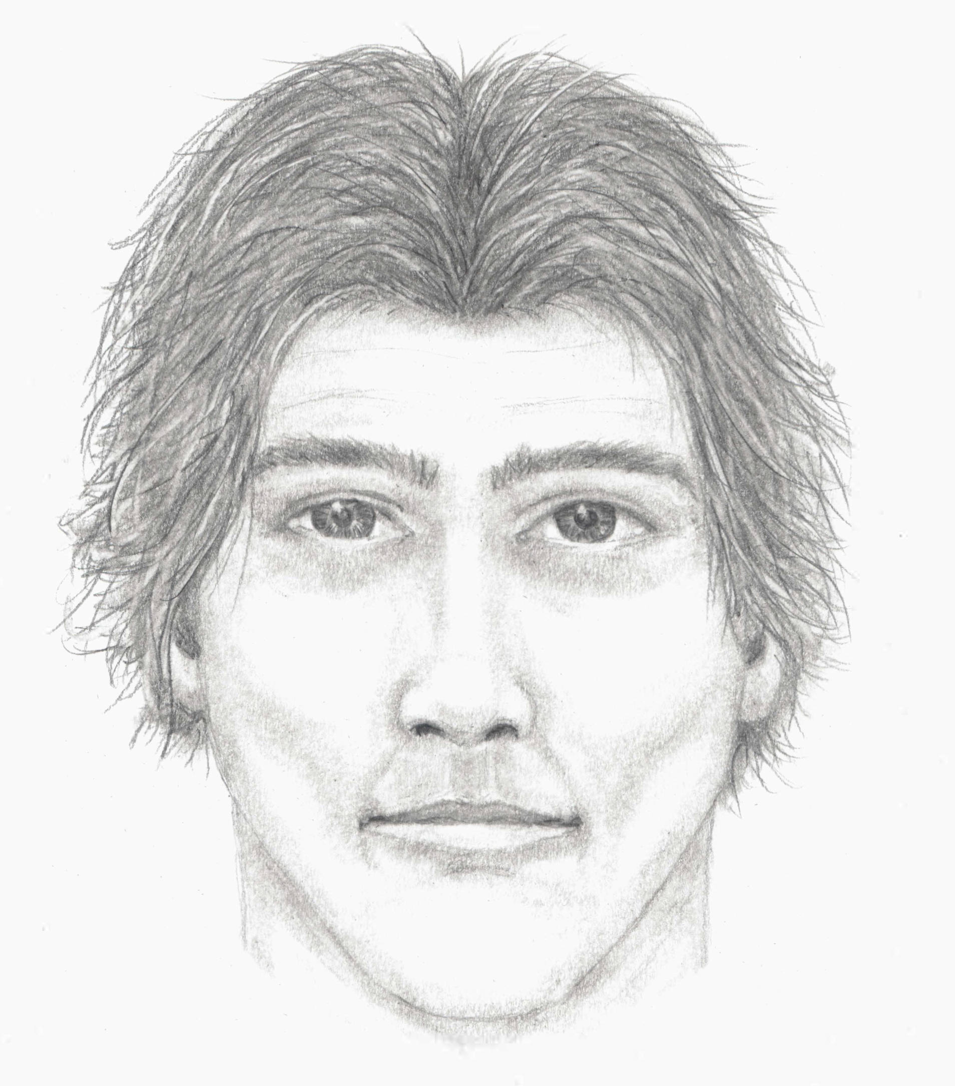 Sketch of sexual assault suspect released by Surrey RCMP on Monday, Dec. 7.