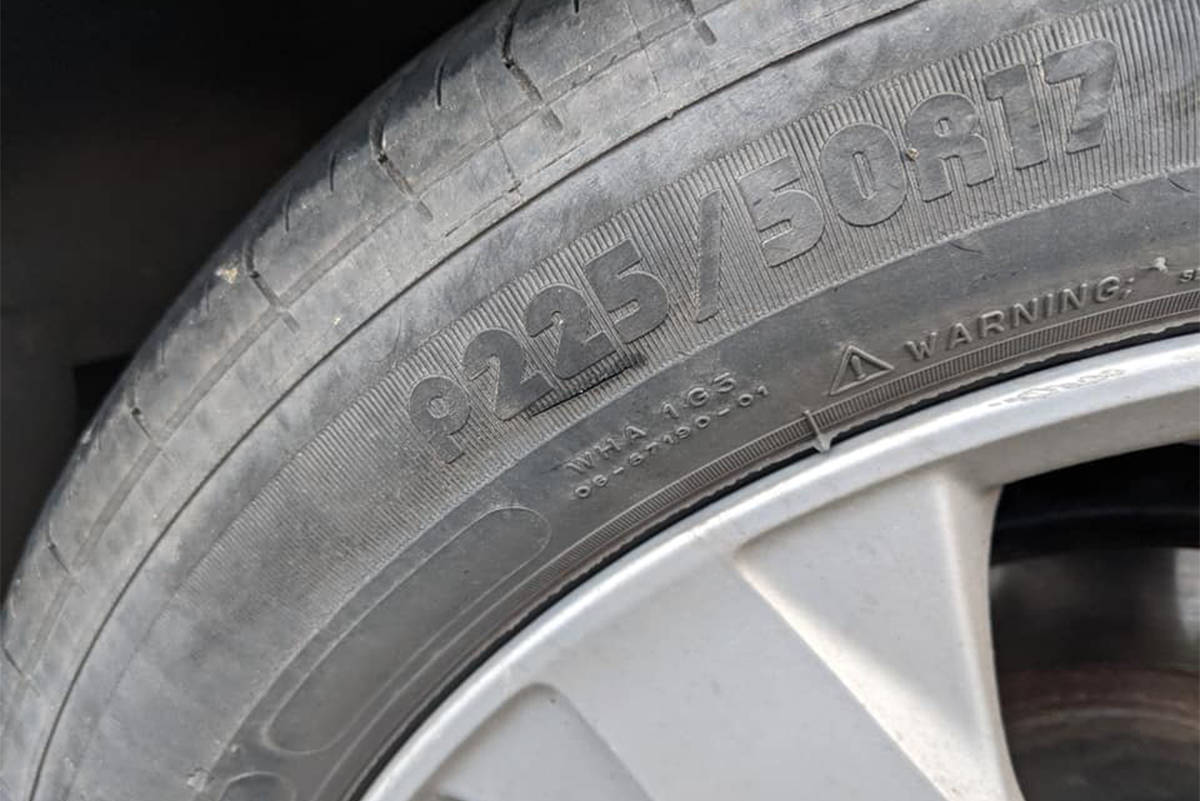 A University of Victoria student's tires were slashed over the weekend. Police believe the incident may have been targeting vehicles with out-of-province license plates. (Courtesy of Nigel Swab)
