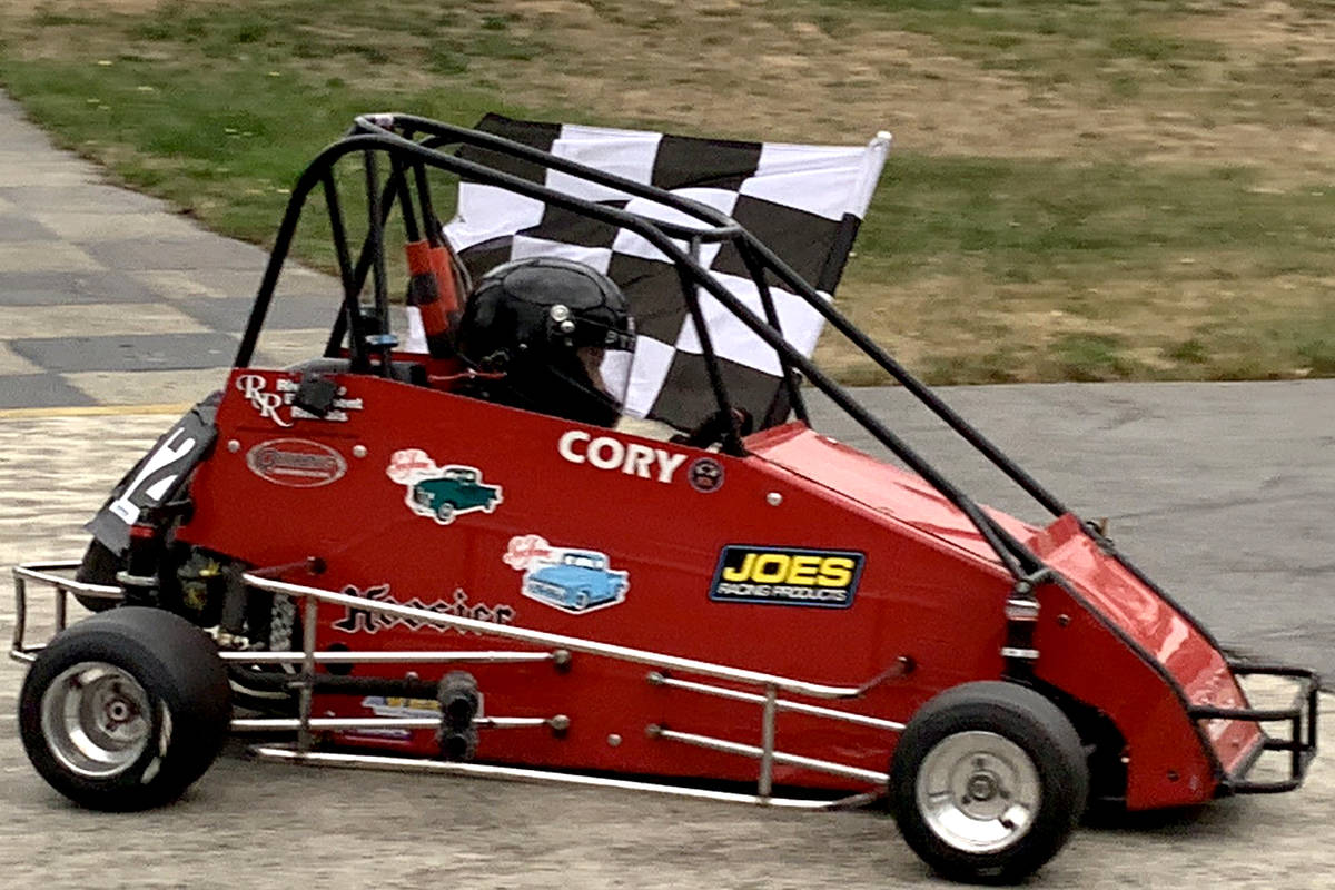 Cory McLeod races in the Senior Animal class this past August with the Langley Quarter Midgets. (Nadine Scott/Special to the Aldergrove Star)