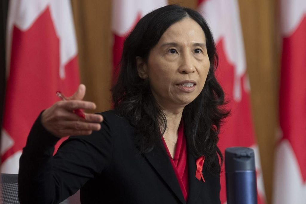 Chief Public Health Officer Theresa Tam responds to a question during a news conference in Ottawa, Tuesday Dec. 1, 2020. THE CANADIAN PRESS/Adrian Wyld