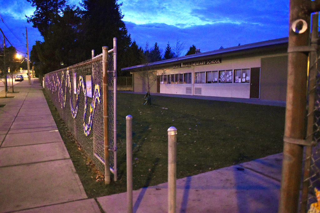 The volunteer role of a parent at Peace Arch Elementary is under review by the district. (Aaron Hinks photo)