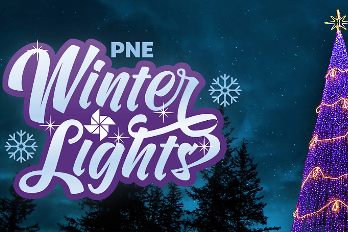 Image posted to the website pne.ca/winterlights