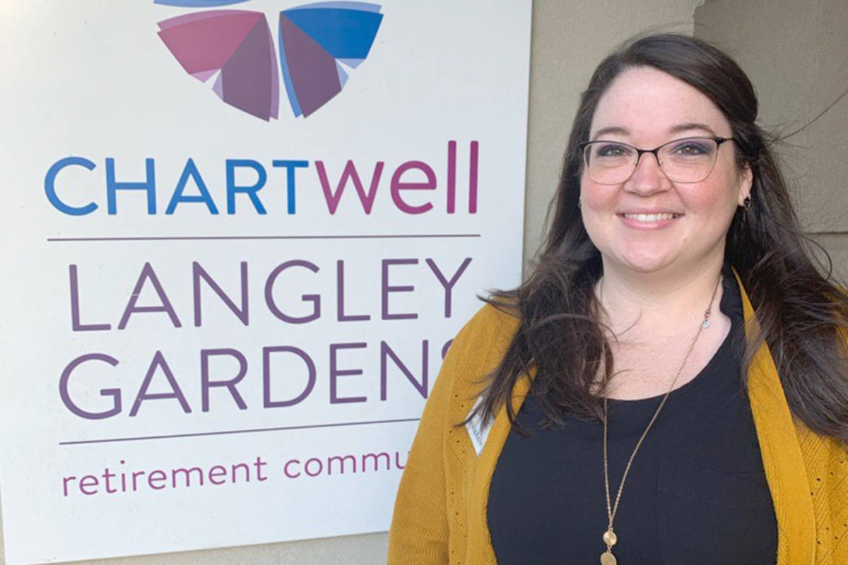 Danielle Axton won the 2020 Memory Living Manager of the Year award, one of six national awards presented by Chartwell Retirement Residences. (Chartwell photo/Special to the Langley Advance Times)