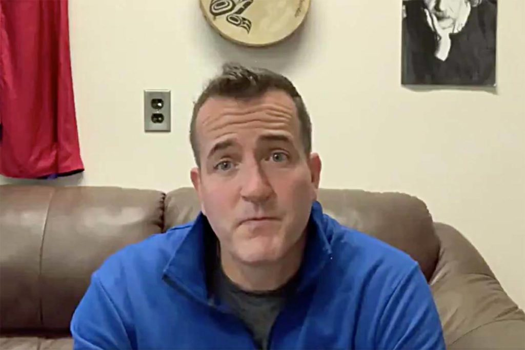 Principal Rob Clark posted a video to his Twitter account on Dec. 8, after having a conversation about COVID-19 stigma with one of his students. / Video image