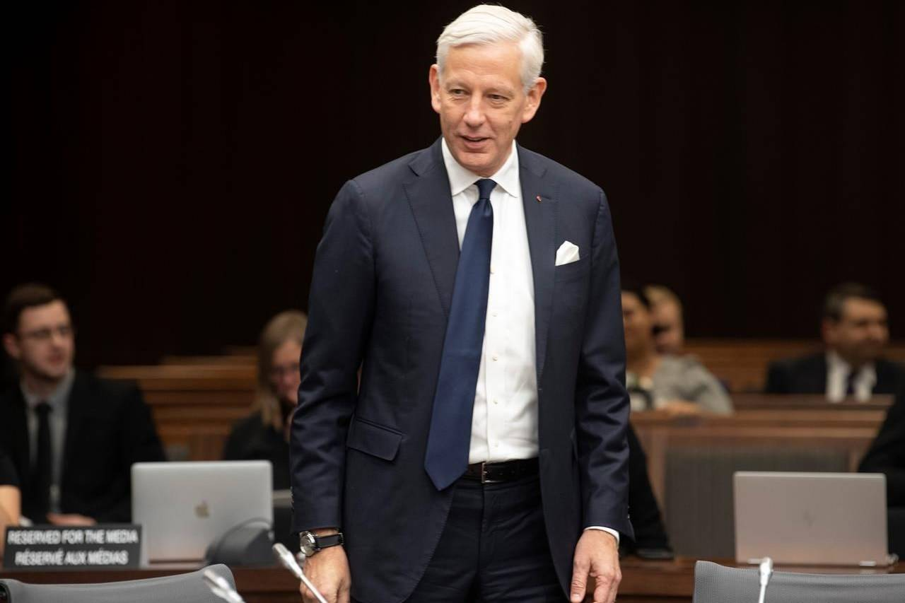 Canada's Ambassador to China Dominic Barton waits to appear before the House of Commons committee on Canada-China relations in Ottawa, Wednesday, February 5, 2020. Canada's ambassador to China says Michael Kovrig and Michael Spavor are physically and mentally well, and showing inspiring resilience as they near the end of their second year of imprisonment by the People's Republic. THE CANADIAN PRESS/Adrian Wyld