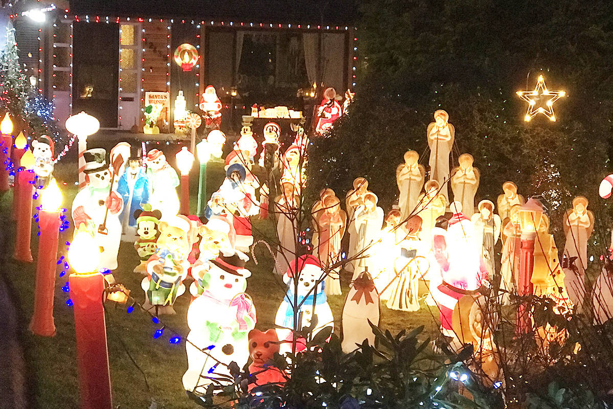 Bjorn Wejr's front yard in Maple Ridge is a favourite for passers by. (Special to The News)
