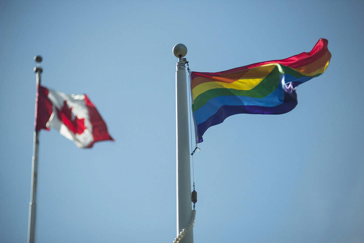 FILE – A rainbow flag flies at Queen's Park at the annual Pride flag raising ceremony at the official launch of Pride Month in Toronto on Wednesday, June 1, 2016. THE CANADIAN PRESS/Eduardo Lima