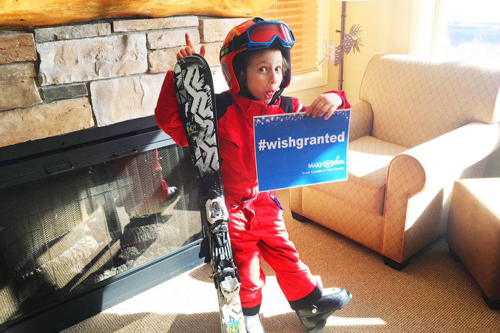 Five-year-old Moss loves to ski, but his local hill only has a T-bar. After undergoing cancer surgery and chemotherapy, his wish to use a chair lift was granted by the Make-A-Wish Foundation of BC & Yukon, which arranged for Moss and his family to enjoy an exciting experience at Big White Ski Resort.