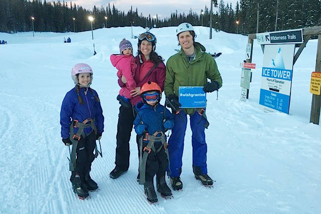 Visiting Big White Ski Resort outside Kelowna, Moss and his family experienced many of the exciting winter activities offered by the resort, including skiing, tubing, dogsledding and ice climbing.