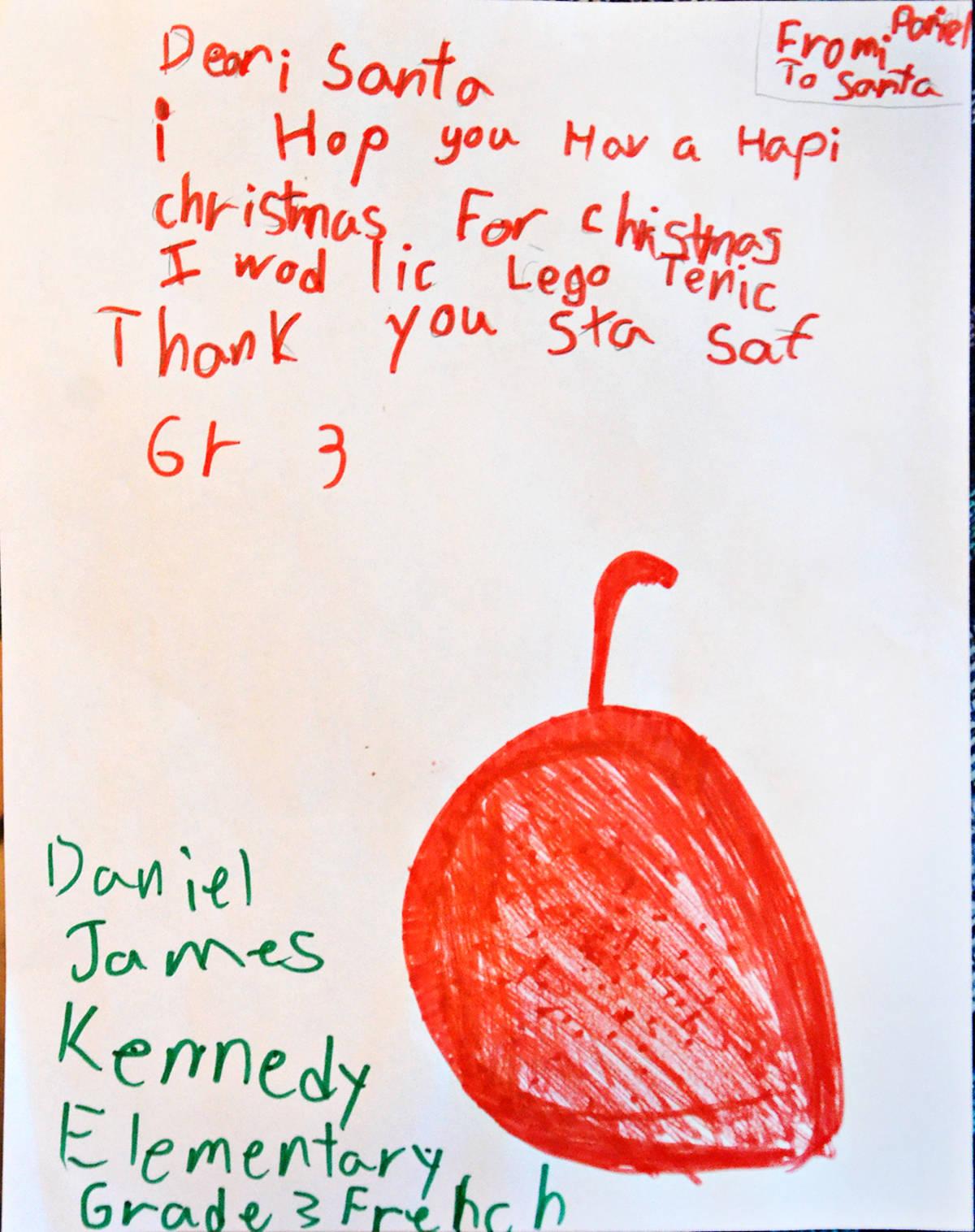 Daniel, Grade 3, James Kennedy Elementary