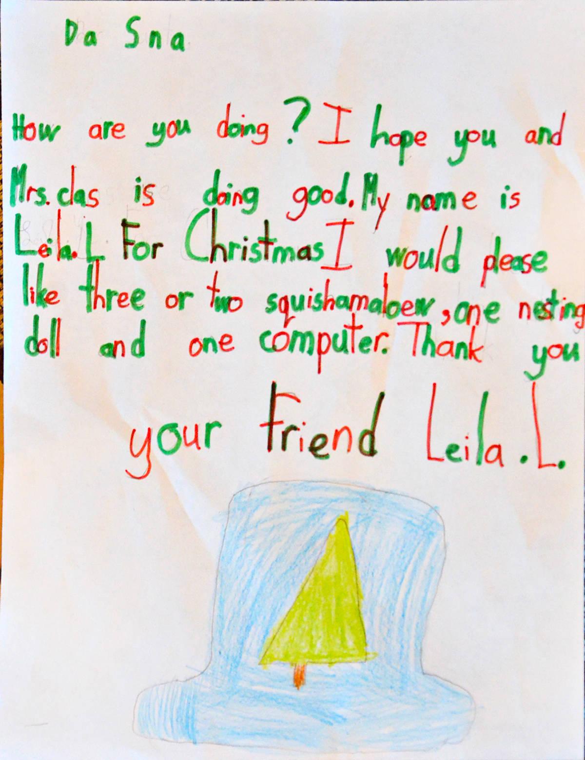Leila L., Grade 3, James Kennedy Elementary