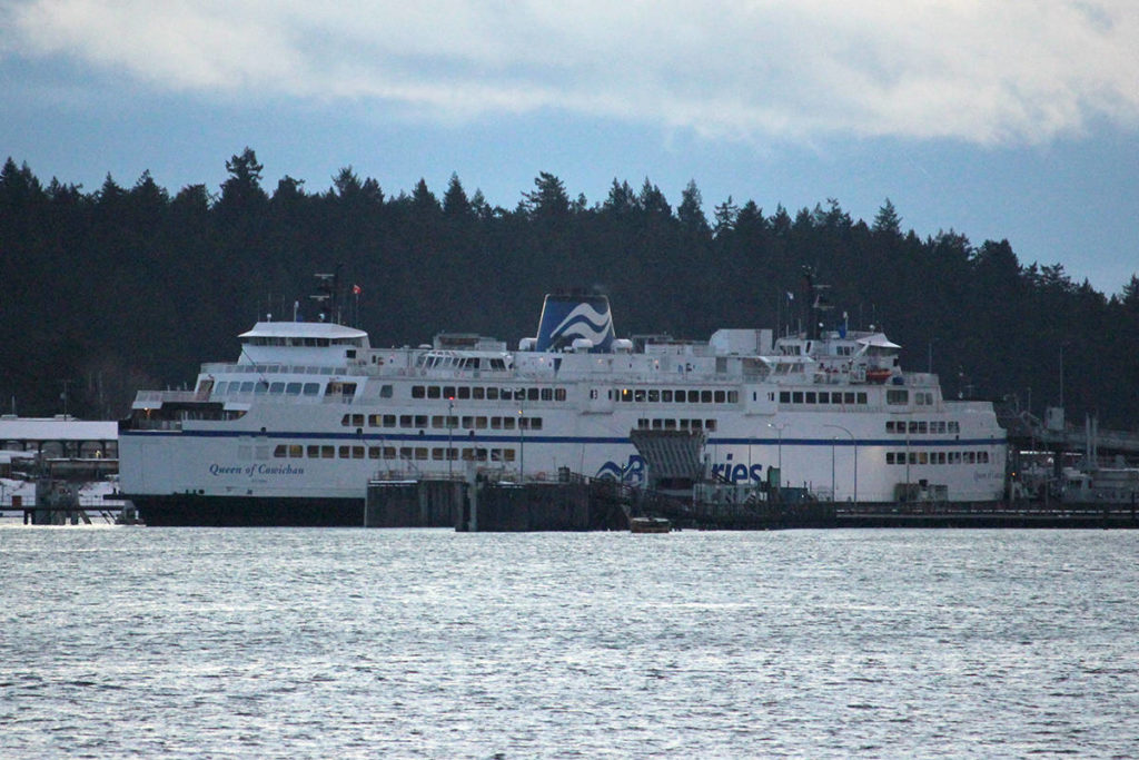 BC Ferries is asking people to avoid non-essential travel this holiday season. (News Bulletin file photo)