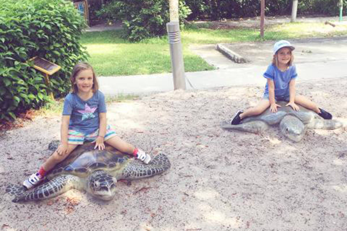 Rose and Nina at the Florida and the Gumbo Limbo Nature Centre. (Submitted/Make-A-Wish British Columbia and Yukon)