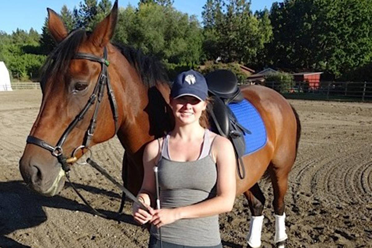 Hillary is show with her horse, Zoe. (Submitted/Make-A-Wish British Columbia and Yukon)