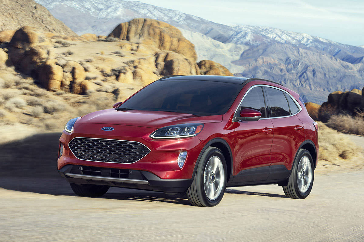 The completely redesigned new 2020 Escape best offers four new propulsion choices – including two all-new hybrids. PHOTO: FORD