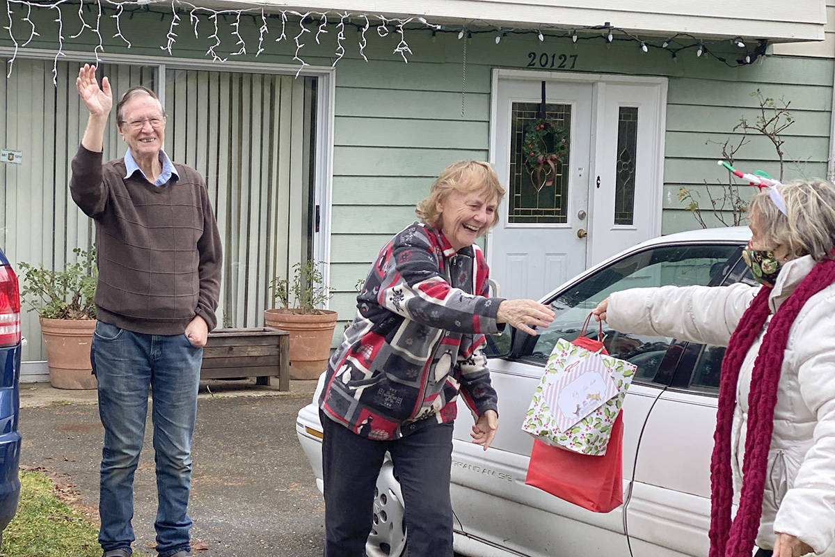Brookswood seniors received holiday gifts during a special parade on Thursday, Dec. 10, 2020 (Bria Communities/Special to the Langley Advance Times)
