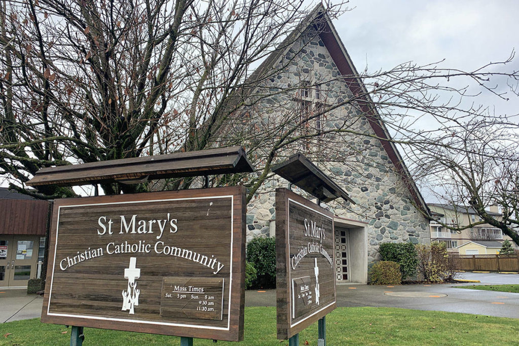 St. Mary's Catholic Church in Chilliwack on Dec. 10, 2020. (Paul Henderson/ Chilliwack Progress)