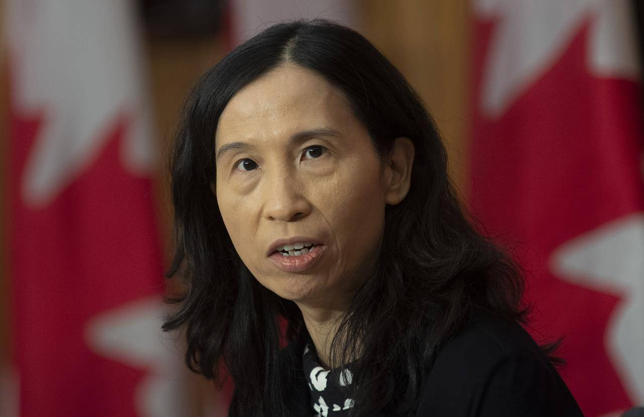 Chief Public Health Officer Theresa Tam responds to a question during a news conference Tuesday, December 8, 2020 in Ottawa. THE CANADIAN PRESS/Adrian Wyld