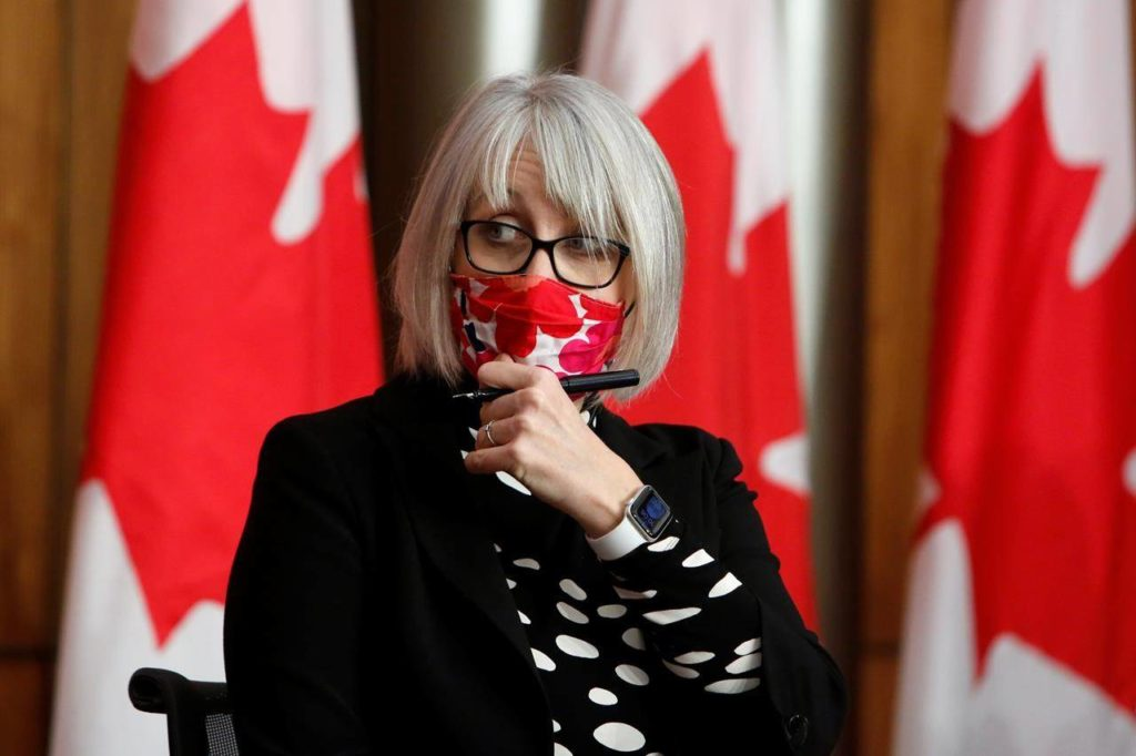 Health Minister Patty Hajdu arrives at a COVID-19 press conference in Ottawa on Friday, Dec. 11, 2020. THE CANADIAN PRESS/David Kawai