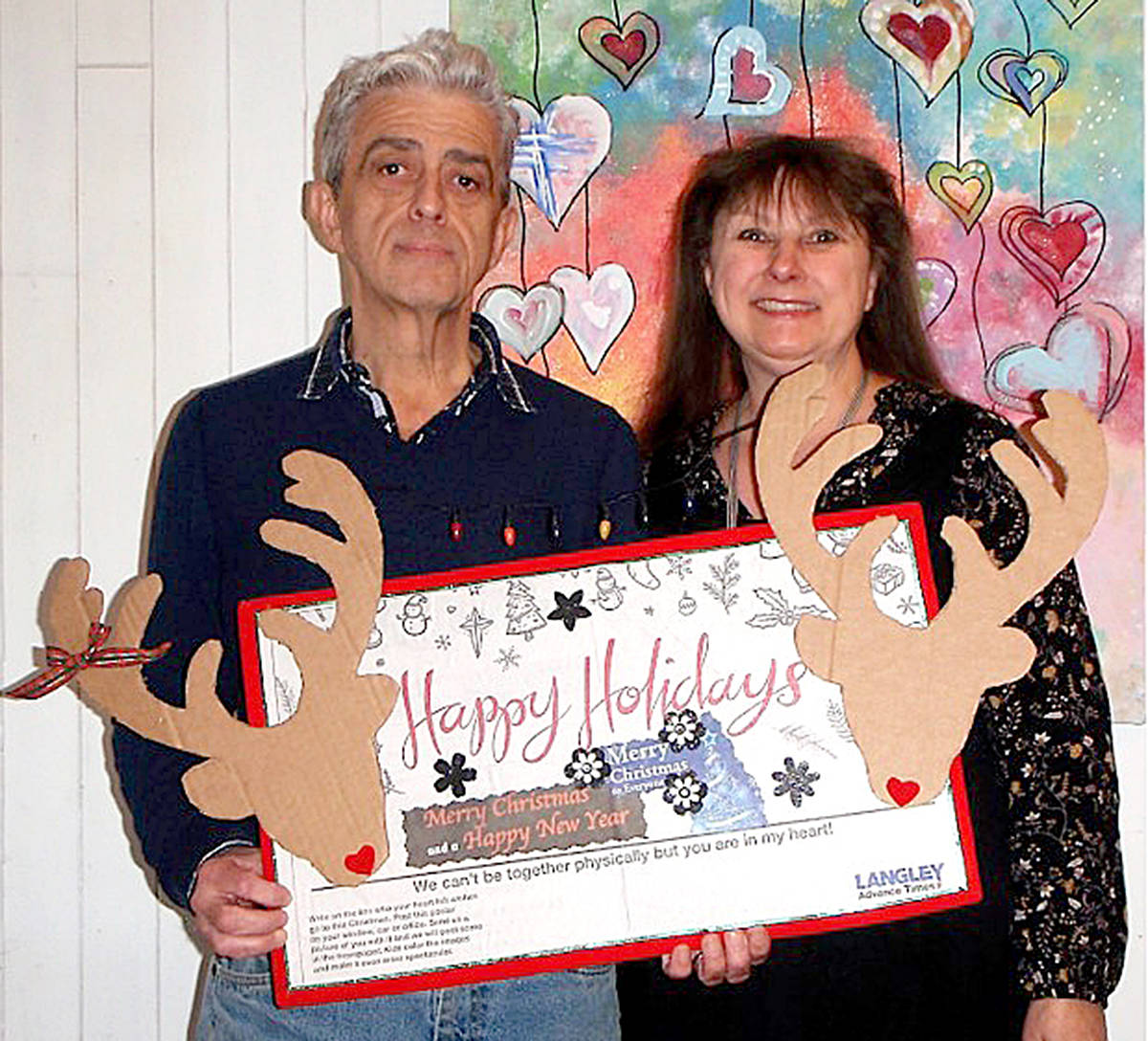 """Lloyd and Shirley Sawatsky were the first to share """"heartfelt wishes one and all a very Merry Christmas and Happy New Year in 2021"""" with their poster. (Special to Langley Advance Times)"""