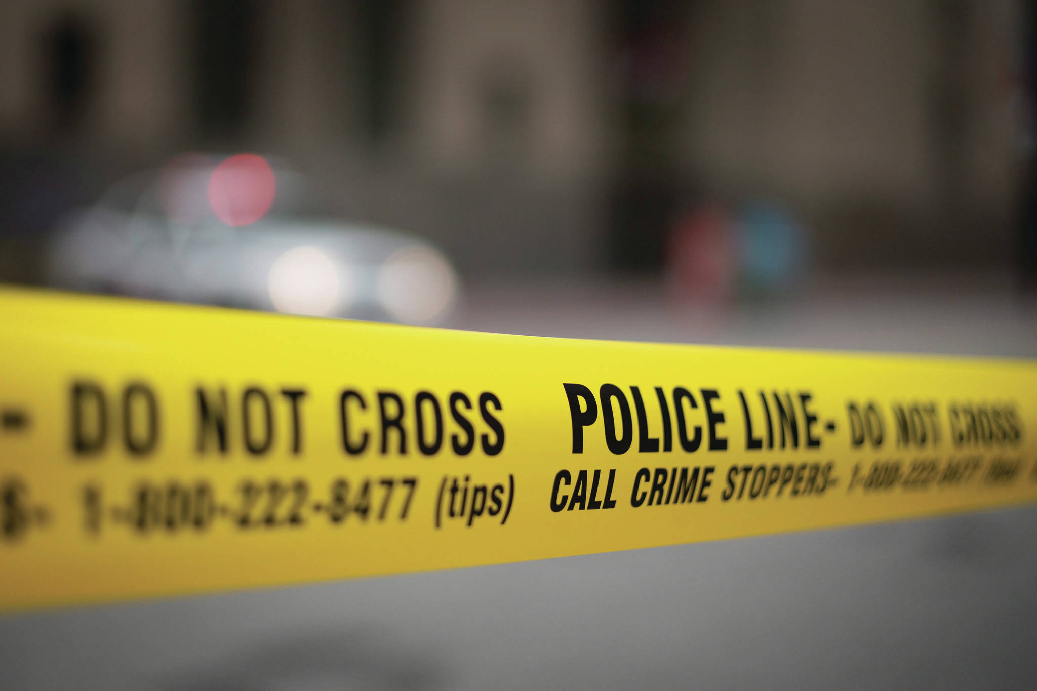 Police tape is shown in Toronto Tuesday, May 2, 2017. (Graeme Roy/The Canadian Press)