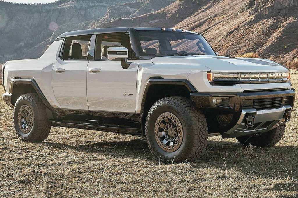 The Hummer brand has reemerged as an electric truck that will be sold under the GMC banner. Expect it for the 2022 model year. PHOTO: GENERAL MOTORS