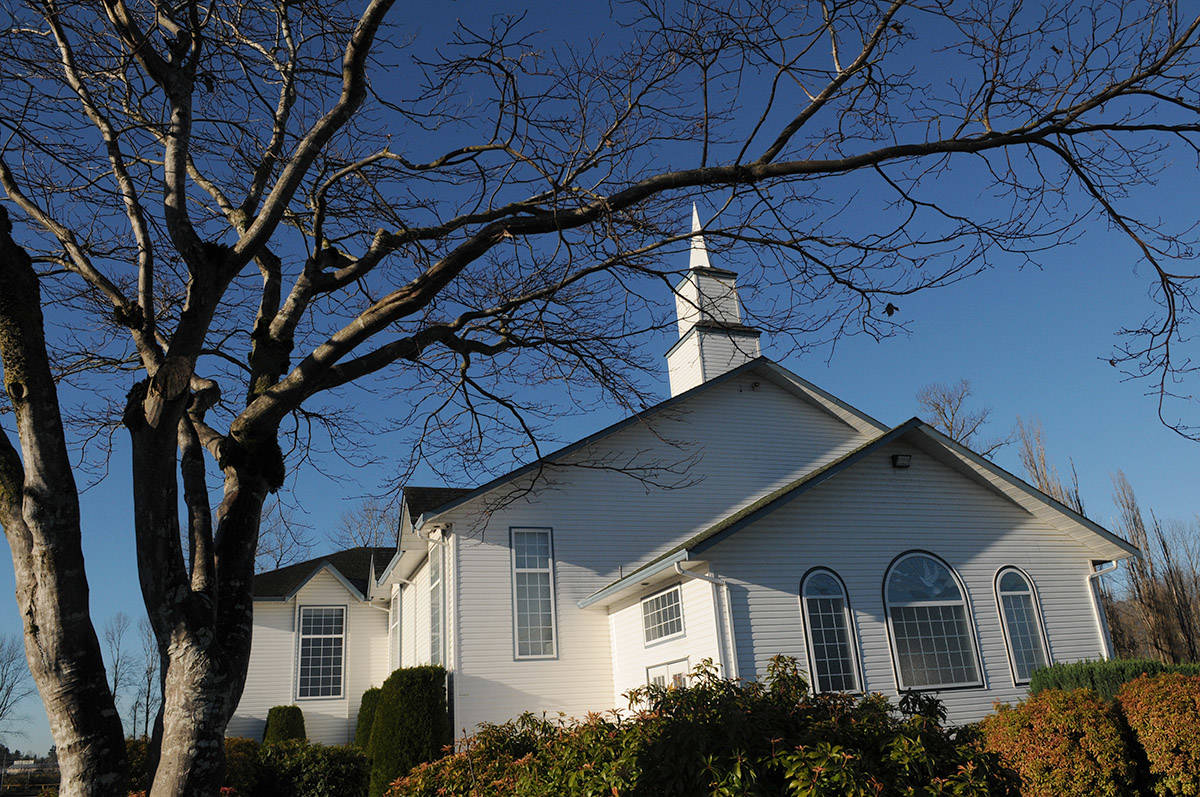 Chilliwack Free Reformed Church on Yale Road (seen on Dec. 1, 2020), along with Free Grace Baptist Church, continues to hold in-person services despite the Nov. 19 public health order banning indoor gatherings. (Jenna Hauck/ Chilliwack Progress)