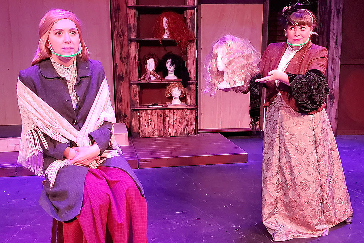Langley's Cassie Unger and Lauren Trotzuk star in Theatre in the Country's Christmas production of The Gift of the Magi, which is being livestreamed this weekend and next. (Special to Langley Advance Times)