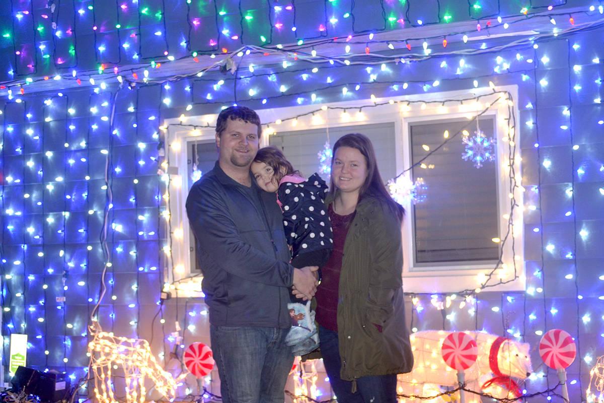 Darren Pennington and his wife Kassandra and daughter Aubrey decorated their Aldergrove home for the holidays. (Ryan Uytdewilligen/Aldergrove Star)
