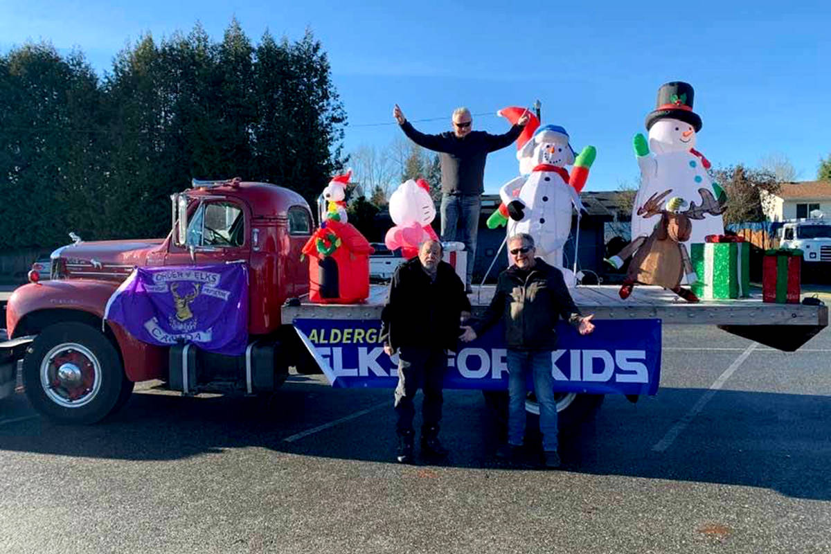 Aldergrove Elks support the Aldergrove Food Bank by presenting a float at the legion branch #265 on Saturday, Dec.12. (Special to the Aldergrove Star)
