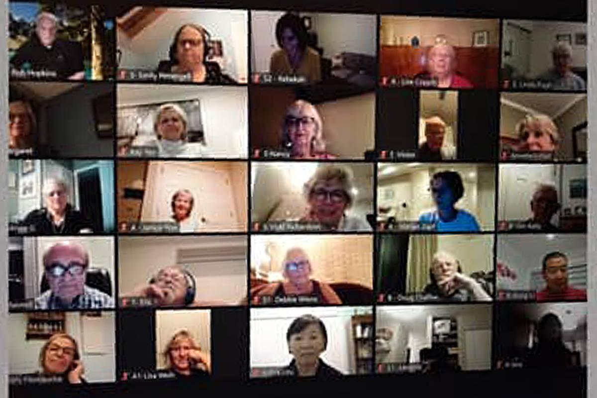 Some 80-plus members of Langley Community Chorus have taken their musical stylings online, preparing to release a Christmas video soon. (Screengrab)