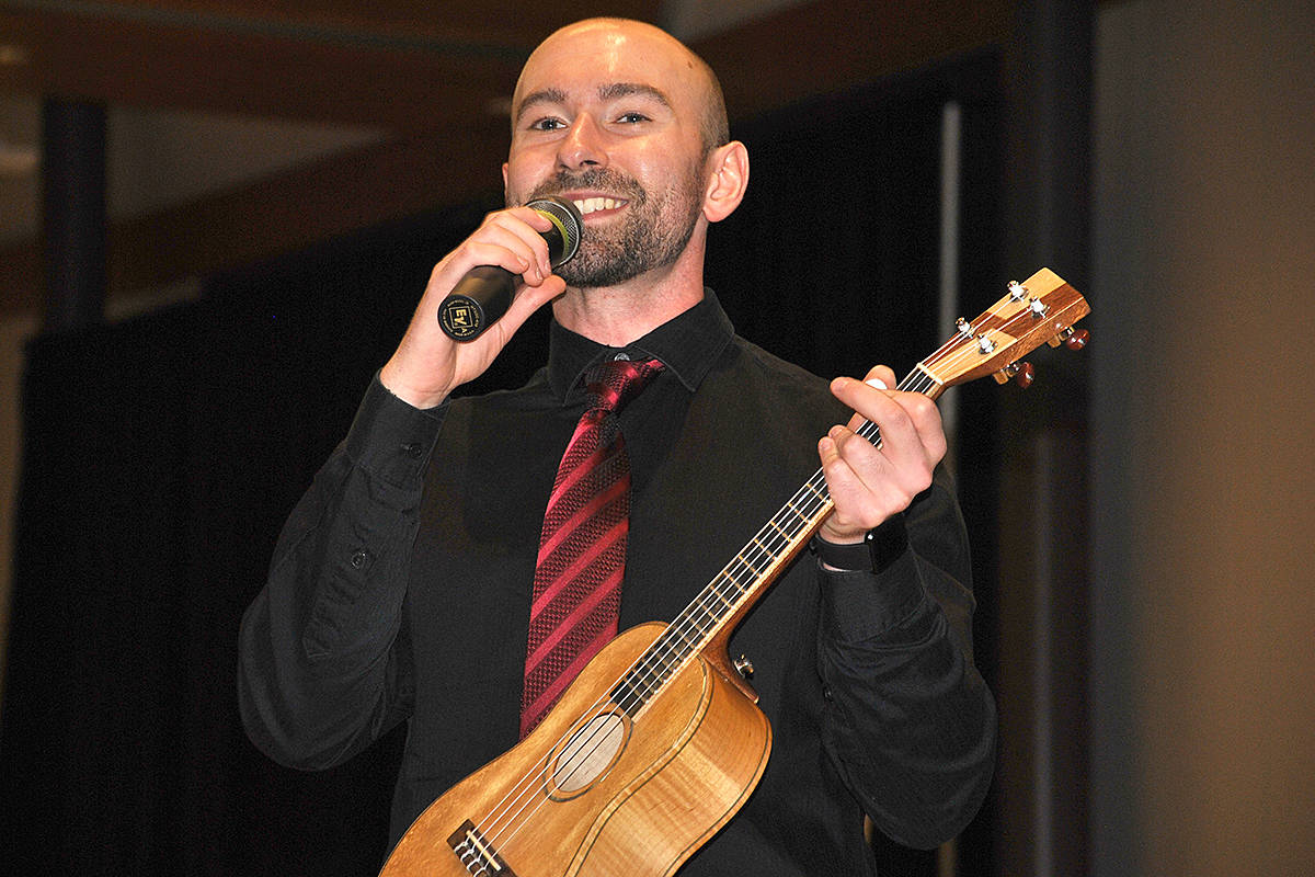 Paul Luongo is the musical and artistic director of the Langley Ukulele Ensemble. (Langley Advance Times files)