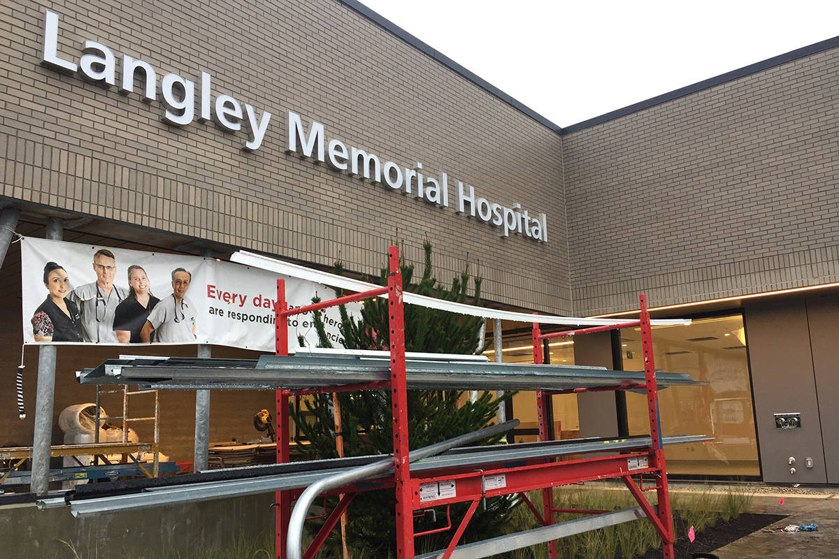 A COVID-19 outbreak at Langley Memorial Hospital's long-term care facility has been declared over. (Roxanne Hooper/Langley Advance Times)