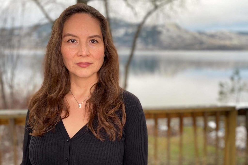 """Native American actress Stefany Mathias poses for a photo in Vernon, British Columbia Canada on Sunday, Dec. 14, 2020. ABC's """"Big Sky"""" is struggling to address Native American criticism of the drama series. Mathias was hired for the role and asked to act as a consultant, which she said included reviewing set decorations. (Tony Butler via AP)"""