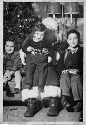 Author Margaret Cadwaladr had a visit with the Santa at the Vancouver Woodward's store as a young child. Years later she would work in the store and has written about her time there. (Margaret Cadwaladr photo/Special to the Langley Advance Times)