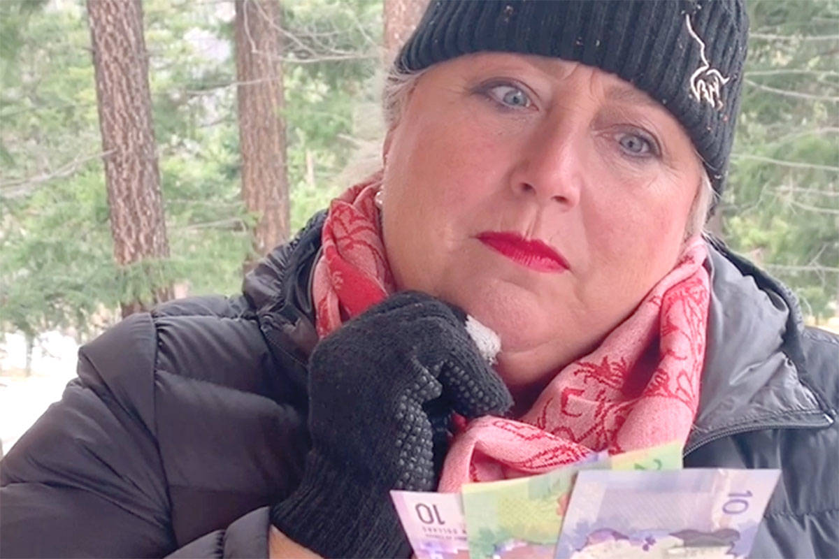 Michele Cartwright, Langley-based realtor, participated in the Realtors Care Charity Drive #PassTheDonation promo video to help raise funds in lieu of collecting clothing items due to COVID-19. (Laurie Dawson/Special to Langley Advance Times)