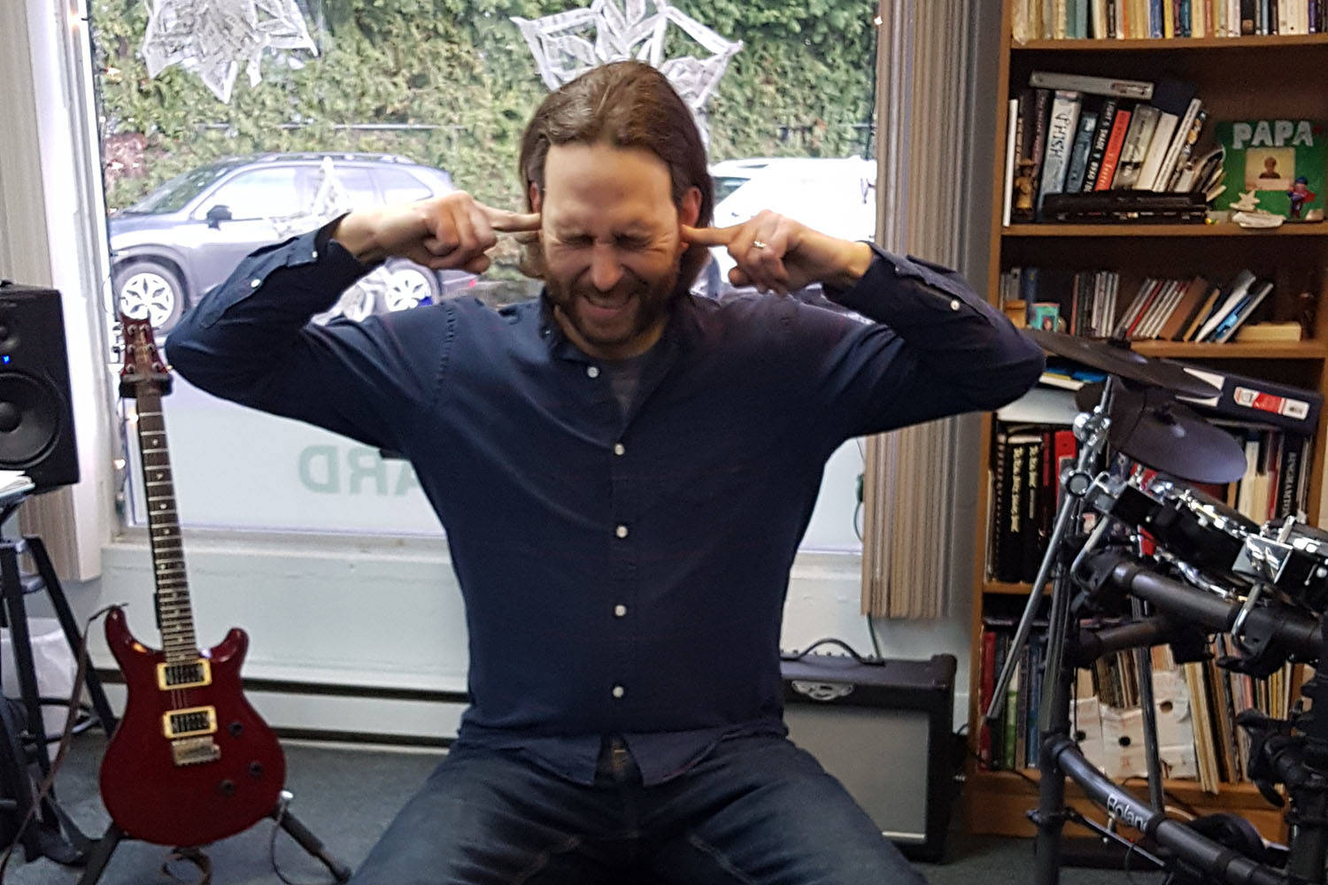 Mike Preston, co-owner of the Brentwood School of Music in Central Saanich, plans to listen to a song he cannot stand for 12 hours straight this Sunday to help raise money for the Mustard Seed Street Church. (Mike Preston/Submitted)