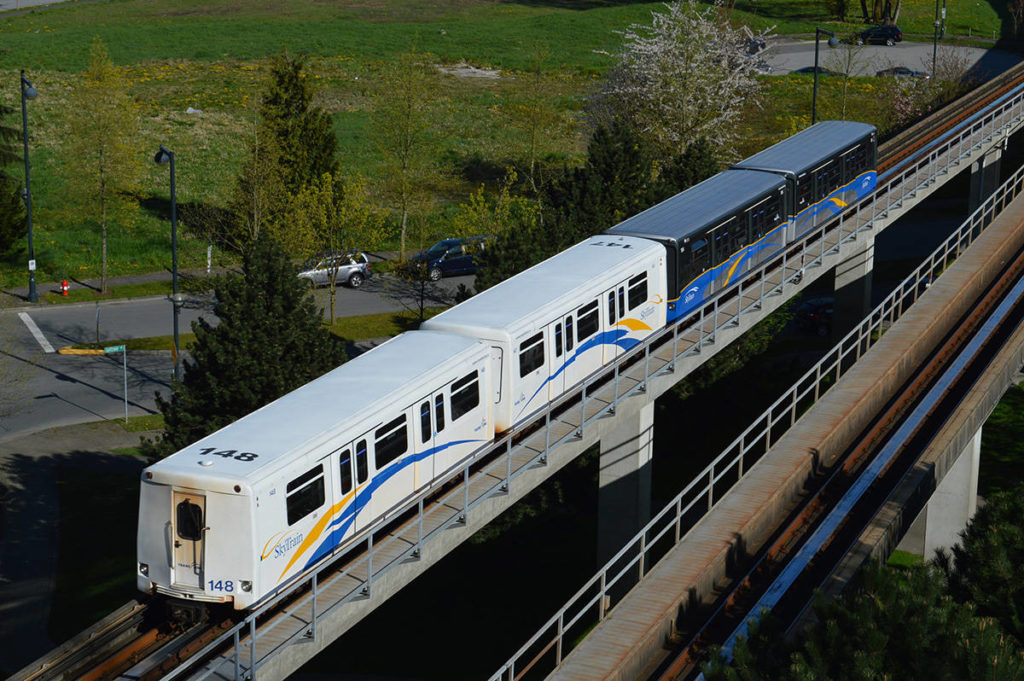 SkyTrain in Whalley. (Photo: Tom Zytaruk)