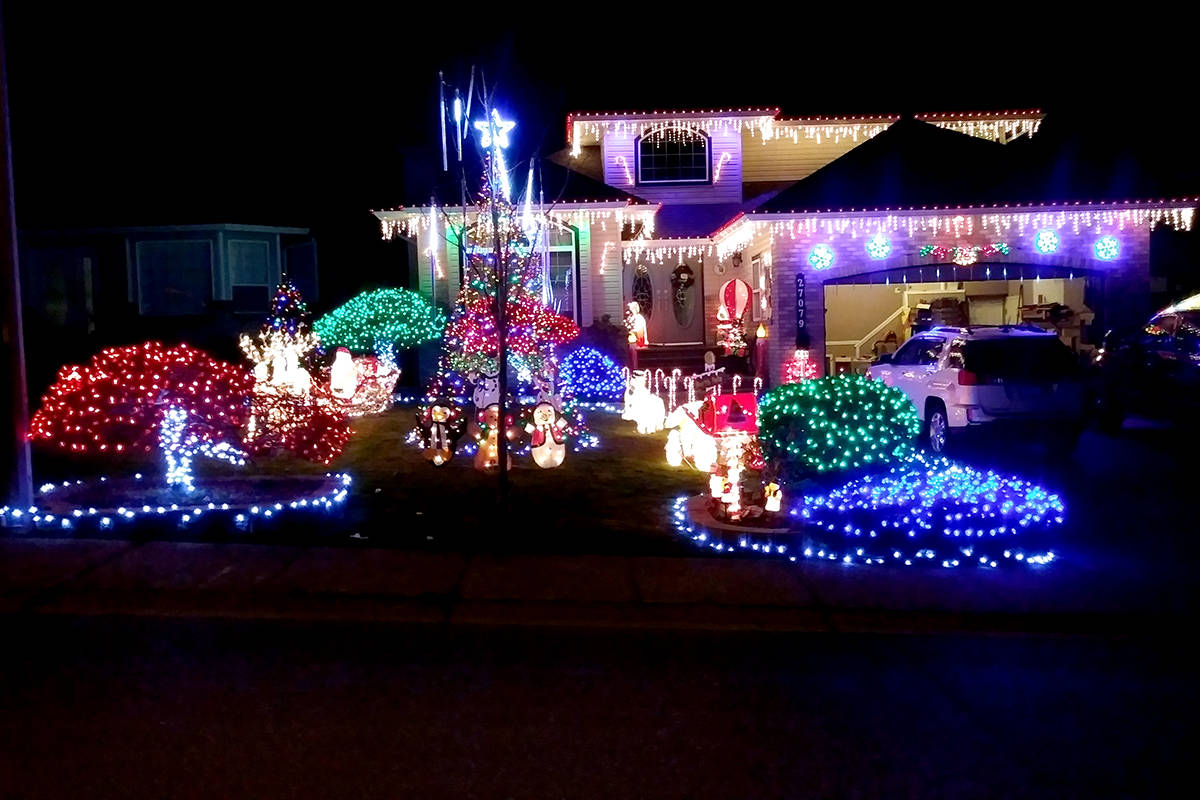 Robin and Michele Girouard's home in Aldergrove, 27079 24a Ave, is decked with lights. (Robin Girouard/Special to The Star)