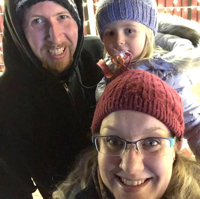 Gillian and Dave McIntosh with their daughter. (Submitted photo)