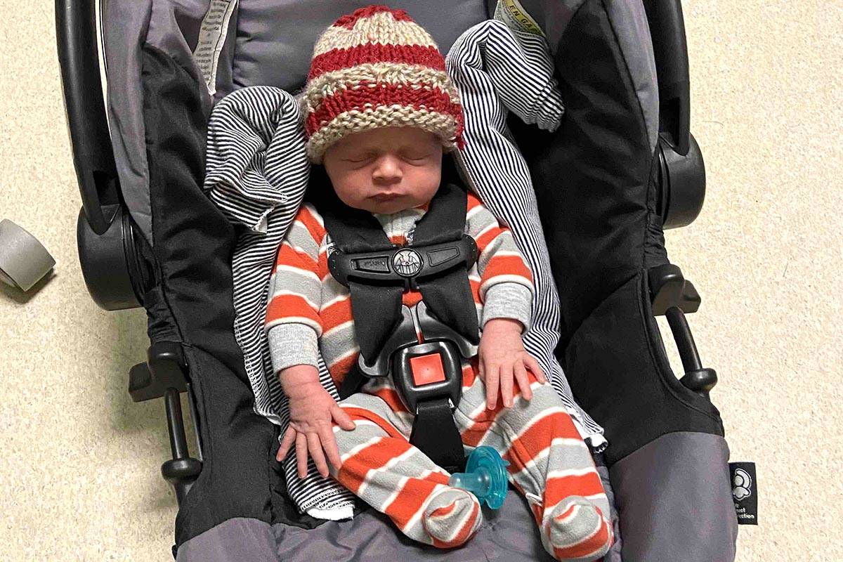 Gillian McIntosh of Abbotsford was finally able to meet her newborn son Travis Len over the weekend. McIntosh was in an induced coma due to COVID-19 when she gave birth to him on Nov. 10, and was eased out of sedation late last week. She has now tested negative for the virus.