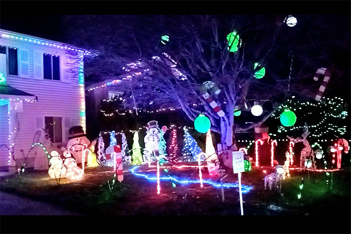 Brothers Tony and Peter Beier have decorated Peter's front yard again at 2403 Watburne Crescent. Tony said it all started as a way of countering his and his wife's season depression. (special to Langley Advance Times)